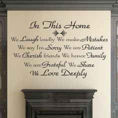 In This Home - We Love Deeply