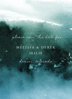 Painted misty forest creates an artsy background for your nature-inspired save the date.
