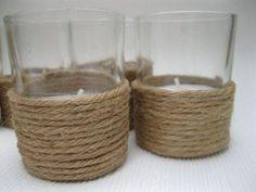 kaarsenpotje met touw