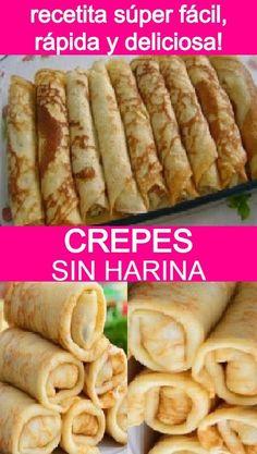 Crepes And Waffles, Pancakes, Sweet Recipes, Keto Recipes, Vegetarian Recipes, Breakfast Recipes, Dessert Recipes, Tasty, Yummy Food