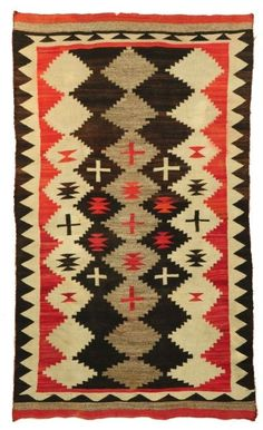 Navajo Rug Diamond Cross Pattern