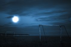 Full moon shining on a beach soccer pitch by Lars Zahner - Photo 67794223 - 500px