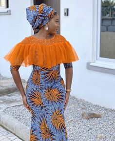 Latest African Fashion Dresses, African Print Dresses, African Dresses For Women, African Print Fashion, Africa Fashion, African Attire, Ankara Fashion, Fashion Outfits, Ladies Fashion