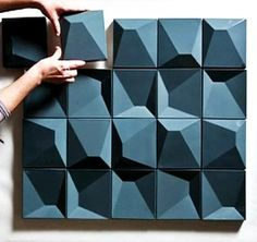 """CZECH TILES  Correia / Ragazzi Arquitectos  """"Two complementary types of tiles, in high relief andlow relief, that together or separately, create several surfaces of highplasticity. Different patterns and textures can result from the differentand countless combinations possible."""""""
