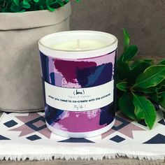 When you need to co-create with the universe Contemporary Candles, Meraki, Candle Jars, Jasmine, Plant Based, Vanilla, Artisan, Lemon, Fragrance