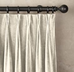 RH's Vintage Velvet Drapery - French-Pleat:Woven by JB Martin, a Cheap Curtains, Drop Cloth Curtains, Boho Curtains, Pleated Curtains, Rustic Curtains, Curtains Living, Velvet Curtains, Nursery Curtains, Wall Drapes