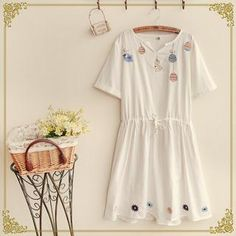 Buy 'Fairyland – Short-Sleeve Embroidered T-Shirt Dress' with Free International Shipping at YesStyle.com. Browse and shop for thousands of Asian fashion items from China and more!