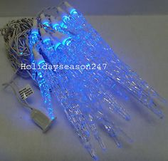 Blue Icicle Lights Outdoor 8 falling rain dropicicle snow fall string led xmas tree cascading 20 large blue icicle outdoor christmas led lights dripping ice holiday xmas bulb workwithnaturefo