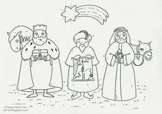 The House of Häusl-Vad: Biblické omalovánky Three Wise Men, Christmas Activities, Sunday School, Kindergarten, Bible, Comics, Drawings, Fun, Blog