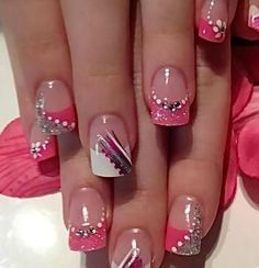 10 Pretty and Trendy Nail Art Designs 2017 - style you 7 Fancy Nails, Diy Nails, Cute Nails, Colorful Nail Art, Trendy Nail Art, Pretty Nail Designs, Nail Art Designs, Awesome Nail Designs, Nail Art Design 2017