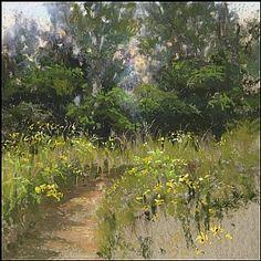 """Prairie Path by Lisa Stauffer Pastel ~ 8.5"""" x 8.5"""""""