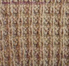 Vertical-horizontal rib knitting stitches