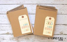 Gratitude Journal Notebook . 2015 365 Things I Am by ILoveItAll