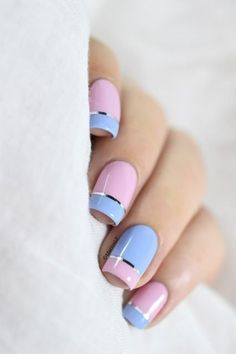Top 40 Color Block Nail Designs for Women - Top Fashion
