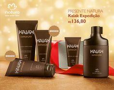 Presente Natura Kaiak Expedição - Desodorante Colônia + Shampoo + Gel para Barbear + Gel após Barba + Gel Fixador + Embalagem Desmontada
