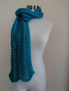 Minty Fresh Feather and Fan Scarf
