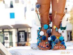 Hippieland Tie Up Gladiator Sandals Greek Leather Sandals