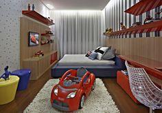 Apartamento belvedere casas ecléticas por graziella nicolai arquitetura e interiores eclético Bedroom Themes, Kids Bedroom, Bedroom Decor, Teen Decor, Kids Decor, Home Decor, Car Bed, Ideas Hogar, Children's Place