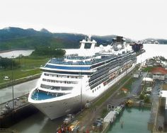 Coral Princess, April 2006 truly amazing to sail through the Panama Canal almost 100yrs old and still in amazing working condition