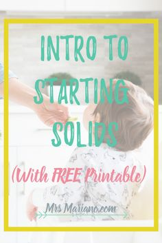 I love these helpful tips for starting solids! These product recommendations really help with the journey of introducing food to your baby. And the FREE printable planner is so useful!