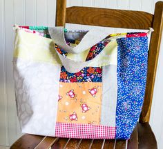 Japanese Knock off Tote Bag - free sewing tutorial — SewCanShe | Free Sewing Patterns for Beginners