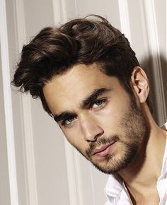 medium brown straight Bridal Mens hairstyles for men