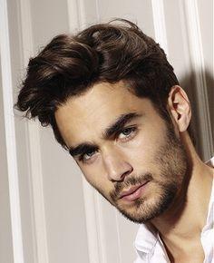 medium brown straight Bridal Mens hairstyles for men