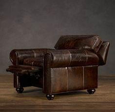 Lancaster Leather Recliner - 2 in Cognac for Lower Level Family Room