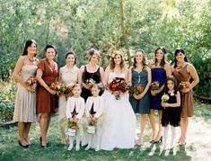 Jessica Claire's bridal party - in different outfits