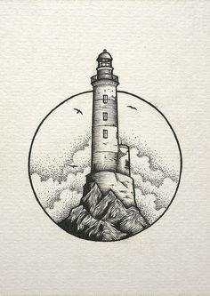 inspiration lighthouse light cloud drawing Cloud draw drawing Inspiration Light Lighthouse is part of Stippling art - Cool Art Drawings, Pencil Art Drawings, Art Drawings Sketches, Ink Illustrations, Art And Illustration, Easy Drawings, Tattoo Drawings, Tattoo Sketches, Tattoo Pics