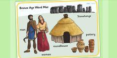 KS2 Bronze Age- Bronze Age Word Mat