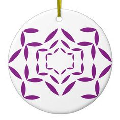 """""""Symbol Patterns"""" Ceramic Ornament - floral gifts flower flowers gift ideas"""