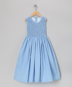 Take a look at this Blue Smocked Dress - Girls by Jayne Copeland on #zulily today!