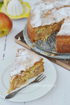 Apple-oatmeal cake from Tyrolean, because apple pie is actually always tasty. This specimen is from northern Italy. Apple Pie with oats from the north of Italy. Oatmeal Cake, Apple Oatmeal, Pie Cake, No Bake Cake, Dutch Recipes, Baking Recipes, Healthy Baking, Healthy Desserts, Healthy Recipes