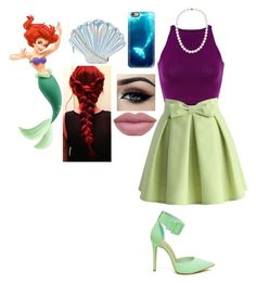 """""""Little mermaid """" by nori-bane on Polyvore featuring Chicwish, Nila Anthony, Blue Nile, Casetify and Ardell"""