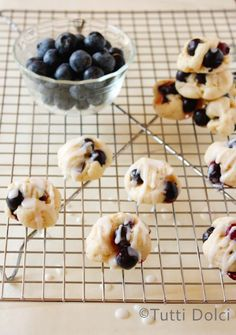 Lemon Glazed Blueberry Bites | Tutti Dolci