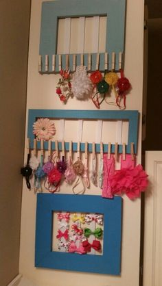 Hair bows and head bands holders