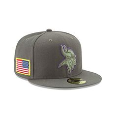 7f56aeabb5789 New Era 59Fifty Hat Minnesota Vikings NFL On-field Salute to Service Fitted  Cap Review