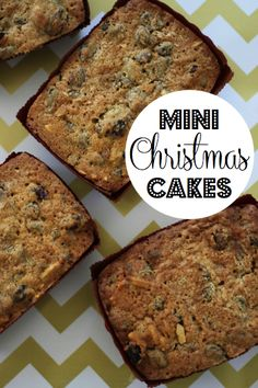 Mini Christmas Cake Recipe | Kirsten and co.