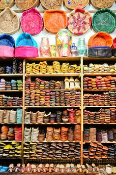 Buying Morocco Leather and Taking in the Colorful Sights and Odd Smells of the Chouara Tannery in Fes Morocco.