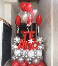Balloon Backdrop, Balloon Decorations, Birthday Decorations, Valentines Balloons, Valentines Day, Balloon Gift, Ideas Para Fiestas, Balloon Bouquet, Ornament Wreath