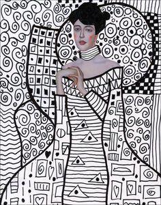Klimt Line Art | Art Projects for Kids
