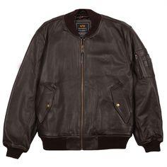 Alpha MA-1 Leather Flight Jacket