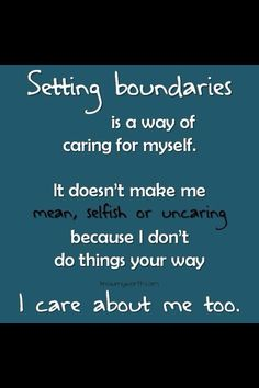 Boundaries are incredibly important