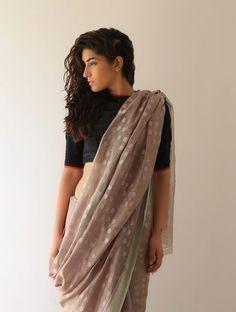 Buy Earthy Lata Chanderi   Zari Saree By Raw Mango Online 7abbfb0685d24