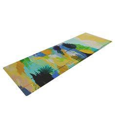 Kess InHouse EBI Emporium Oh So Wild Green Yellow Round Beach Towel Blanket