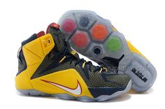 the best attitude 41091 ad7c7 Nike LeBron 12 Navy Yellow Red