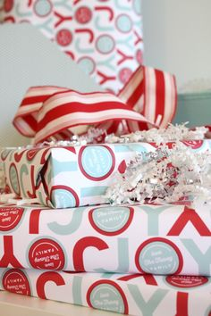 Add a special touch with personalized Minted Wrapping Paper - Bright Bold and Beautiful