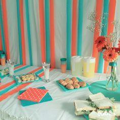 #decor#laranja#turquesa
