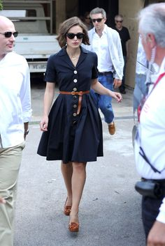 Keira Knightley: The dress, the shoes, the hair, the sunglasses, they are all working perfectly together.